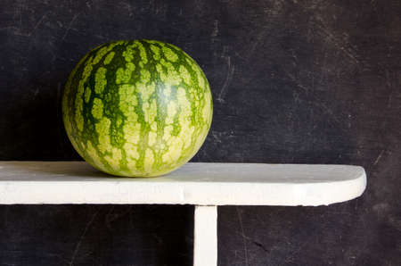watermelon on white board and black background Stock Photo - 11818819