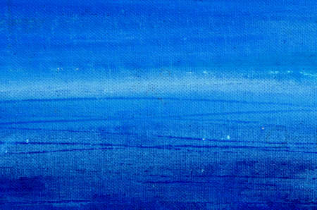 blue acrylic painted canvas background and texture Stockfoto