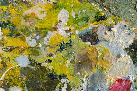 colorful painters palette fragment background Stok Fotoğraf