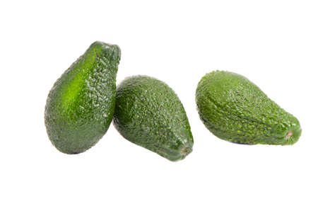 isolated on white  three avocado fruits Stock Photo - 12760657