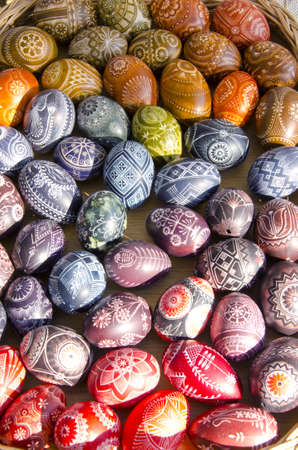 colorful and original handmade painted easter eggs