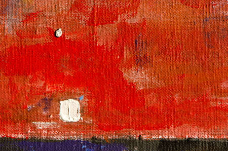 acrylic painted canvas orange background and texture Stock Photo