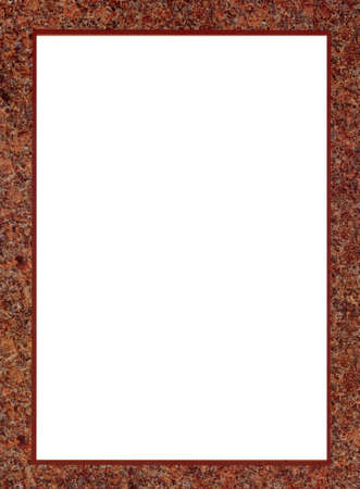 isolated brown paper mat frame Stock Photo