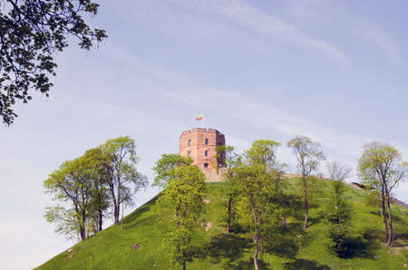 Vilnius history heart - tower of Gediminas in spring time