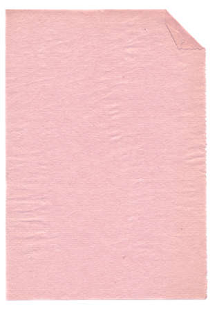 blotter: isolated on white retro blotting-paper page Stock Photo