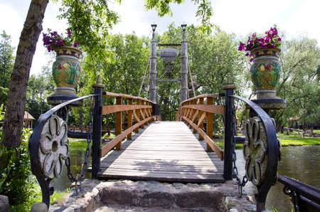 original design river bridge in park Stock Photo - 15596522