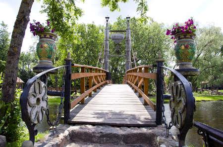 original design river bridge in park Stock Photo - 15596522