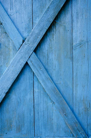 farm barn  blue painted door wooden background Stock Photo - 15741470