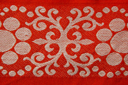 retro and ornamental red tablecloth fragment  Stock Photo - 15928170