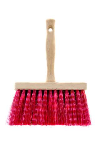 new beautiful brush broom isolated on white Stock Photo - 16133810