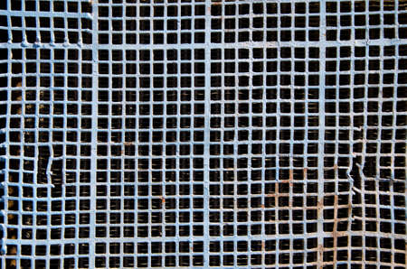 old and aged metal grid background and texture photo