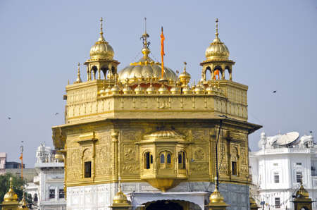 sikh Golden temple in Amritsar, Punjab, India photo