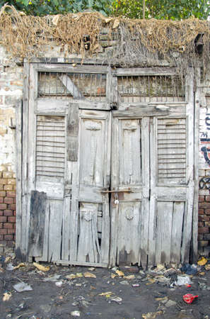 old aged wooden door in Amritsar, India