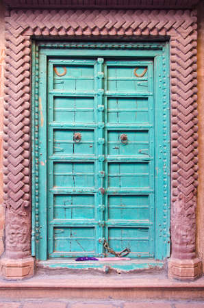 beautiful and ornamental door in Jodhpur, Rajasthan, India photo