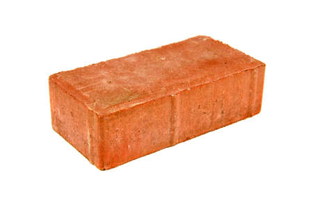 1 object: new red brick isolated on white background  Stock Photo