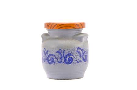 spicery: ceramics spicery bottle isolated on white background