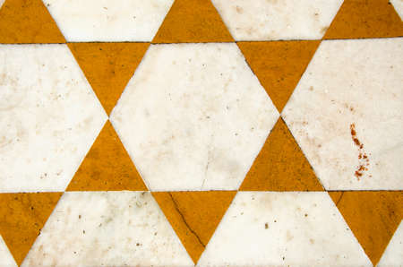 ornamental marble floor  background in temple,Punjab,  India photo