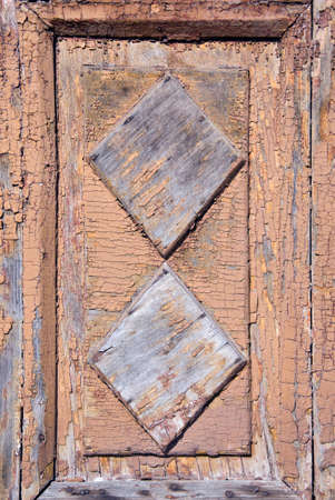 old used wooden door background and texture photo