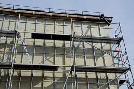 rockwool: old block house renovation and thermal isolation with mineral rookwooll