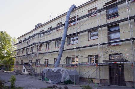 legen: Haussanierung und W�rmed�mmung Arbeitsplatz in der Stadt