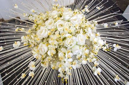 white roses large bouquet floral florist composition photo