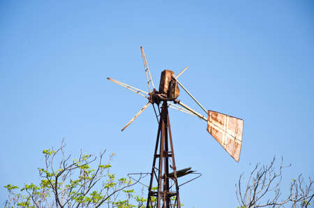 rhodes: old rusted historical windmill in Rhodes island Rhodes city, Greece