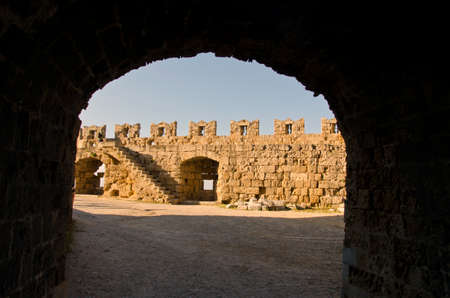 ancient prison: Antique fortress in Rhodes island, Greece