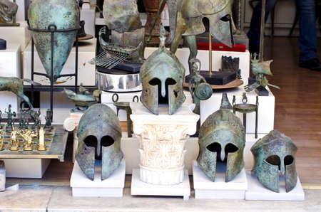 antiquity: Replicas of Greek antique helmets on sale