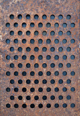 metal grater: old rusty metal grater background and texture Stock Photo