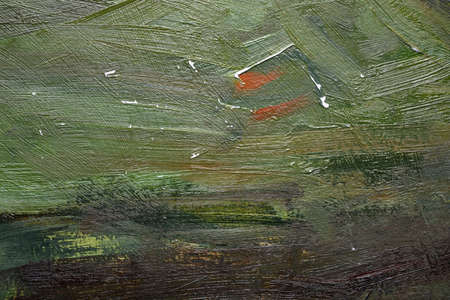 Abstract painted  canvas colorful art green background and texture