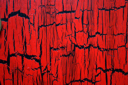 painted old wooden wall, red cracked abstract background