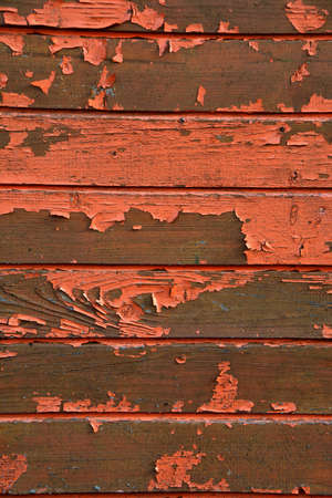 Old wooden cracked painted wall background and texture