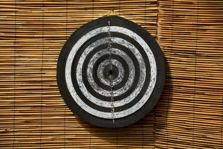 bamboo mat wall with old used target