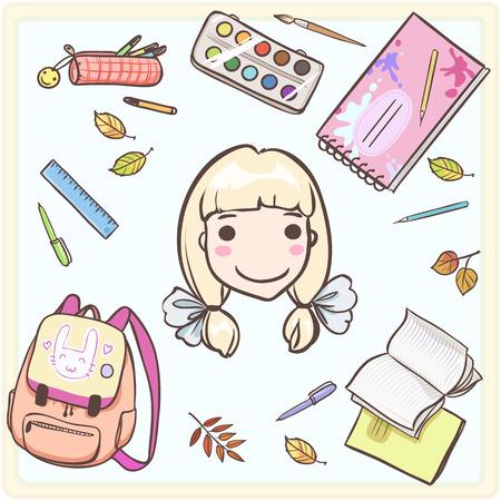 d'accessoires pour l'écolière