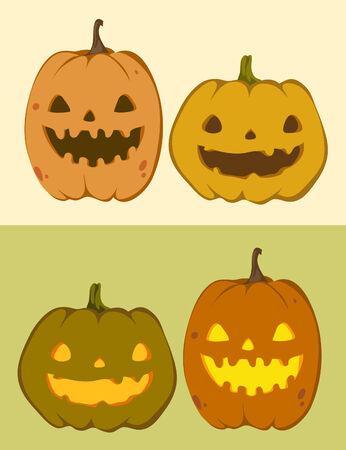 cute pumpkin Jack-O-Lantern