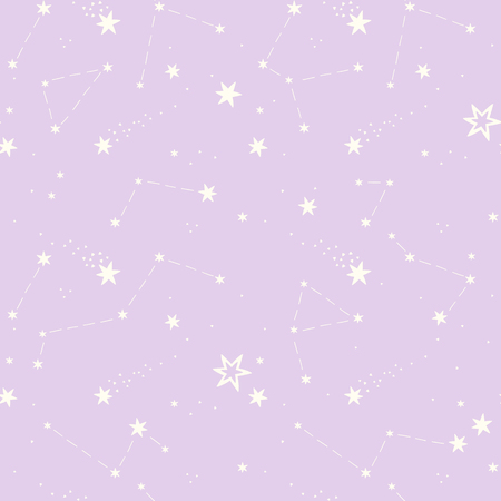 constellations: seamless pattern with the stars, constellations.