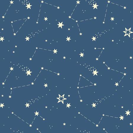 costellazioni: seamless con le stelle, costellazioni.