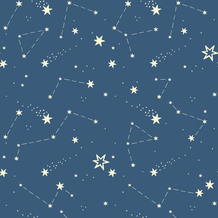 galaxy: seamless pattern with the stars, constellations.