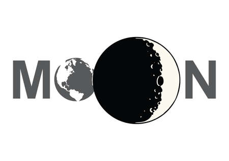 moon: Moon lable with icons