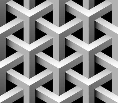 arte optico: 3d industriales sin patrón Vectores