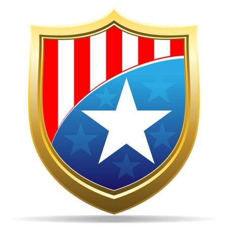 american badge Stock Vector - 13068633