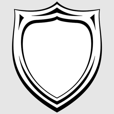black and white  heraldic badge Vector