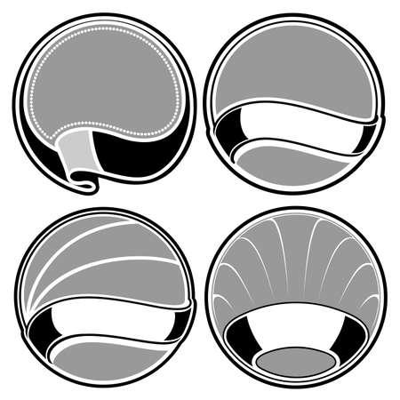 badge set Stock Vector - 13259590