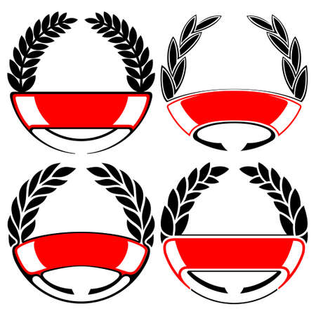 laurel and wreath set Vector