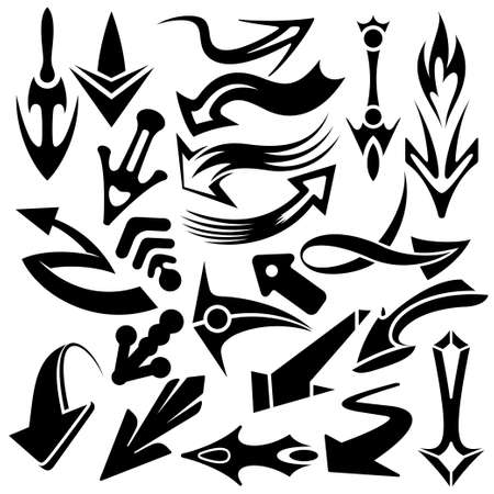 arrow pointer set Stock Vector - 13259600