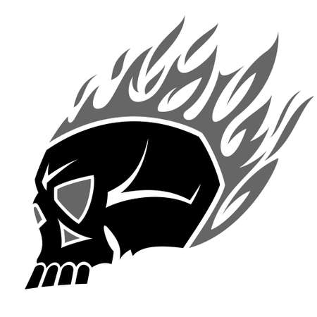 burning skull tattoo Stock Vector - 13175132