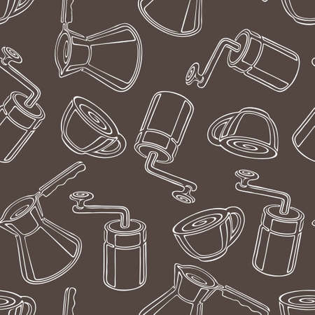 coffee theme seamless pattern Vector