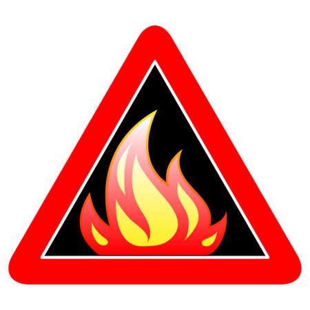 prevent: fire alert sign Illustration