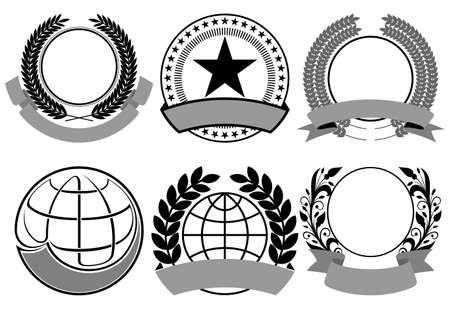 blazon: coat of arms set