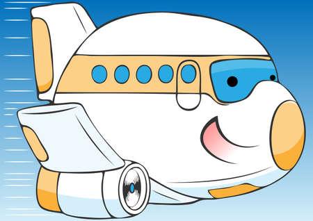 cheerful cartoon: avi�n alegre de dibujos animados ilustraci�n vectorial